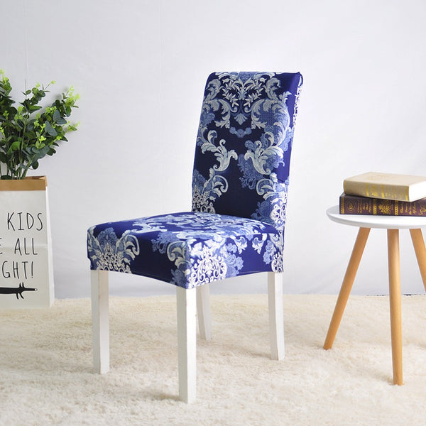 Joyce Wilkes Abstract Blue Chair Cover - SofaPrint™