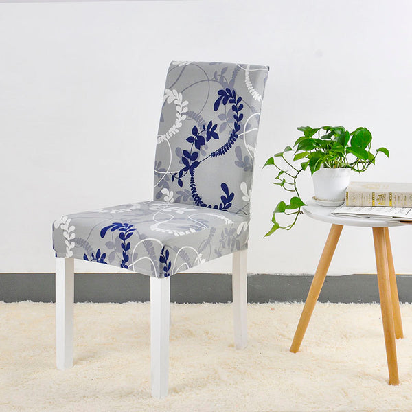 Cristian Reynolds Gray Blue Chair Cover - SofaPrint™