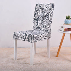 Alyx Abstract Blue Chair Cover - SofaPrint™
