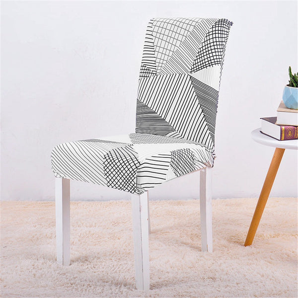 Kacy Geometric Lines Chair Cover - SofaPrint™