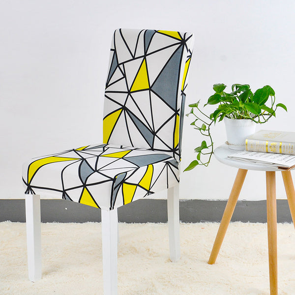 Sherry Geometric Chair Cover - SofaPrint™