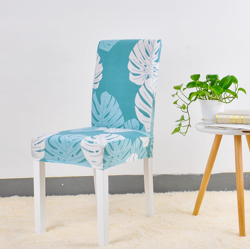 Ayse Pratt Light Blue Chair Cover - SofaPrint™