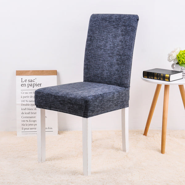 Bridie Mini Dark Gray Blue Chair Cover - SofaPrint™