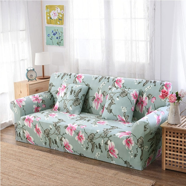 Kaylem Flower Sofa Cover - SofaPrint™