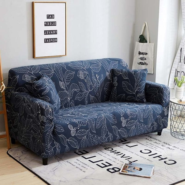 Alice Mann Blue Sofa Cover - SofaPrint™