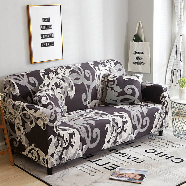Alec Abstract Floral Sofa Cover - SofaPrint™