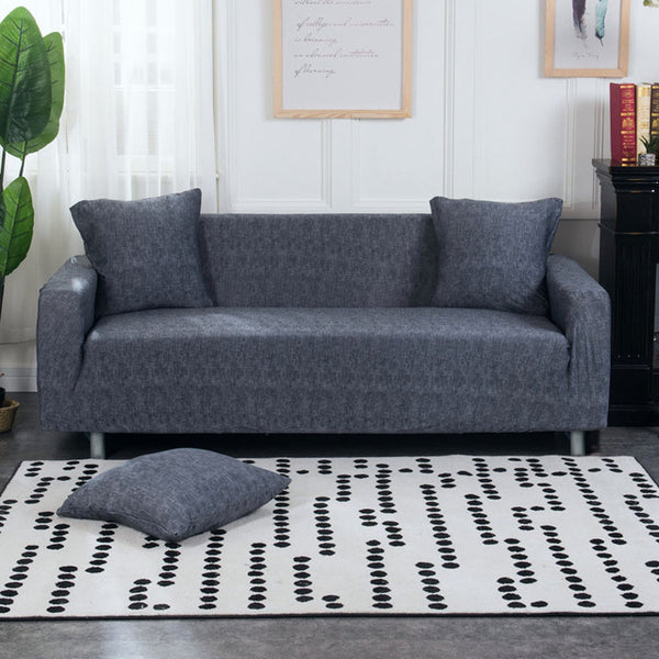 Bridie Mini Dark Gray Blue Sofa Cover - SofaPrint™