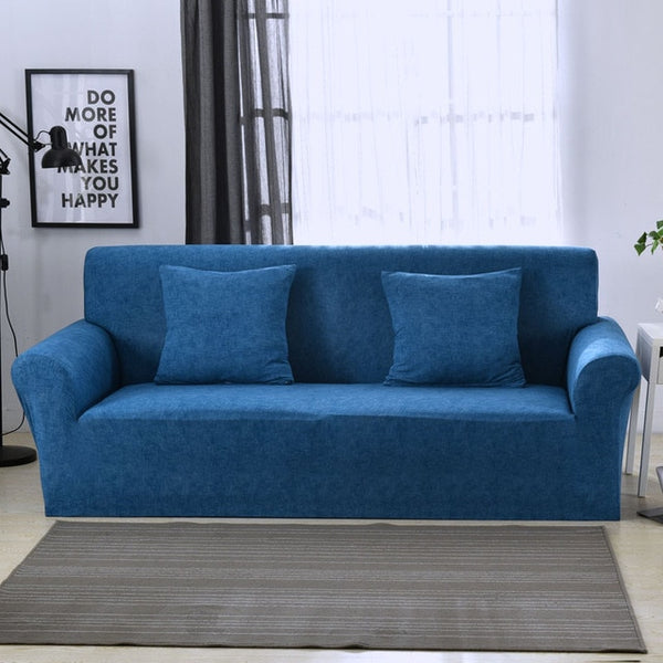 Sameer Blue Sofa Cover - SofaPrint™
