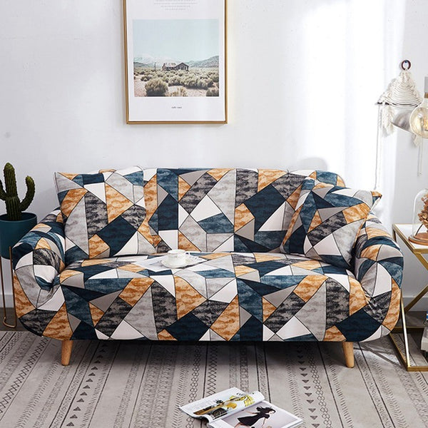 Arissa Geometric Sofa Cover - SofaPrint™