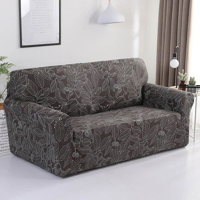 Alice Mann Brown Sofa Cover - SofaPrint™