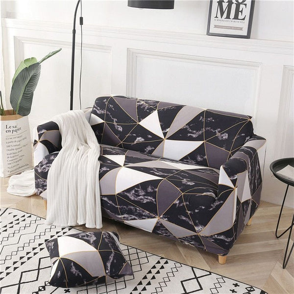 Kaiden Geometric Sofa Cover - SofaPrint™