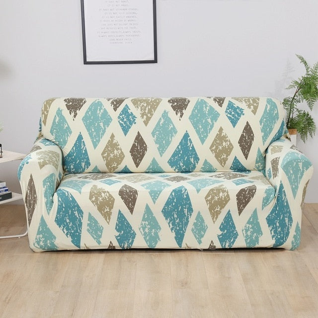 Lily Diamond Sofa Cover - SofaPrint™