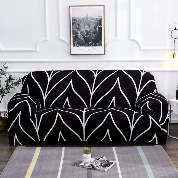 Tiya Black Sofa Cover - SofaPrint™