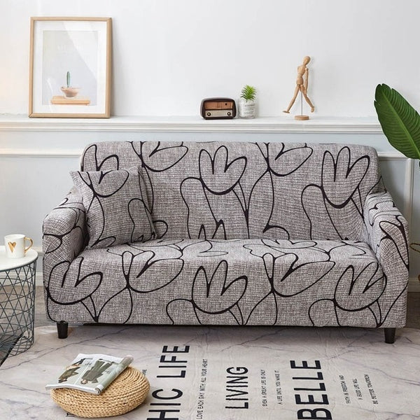 Shayla Line Art Sofa Cover - SofaPrint™