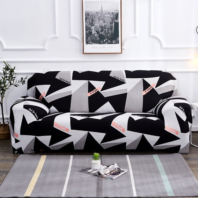 Loui Geometric Sofa Cover - SofaPrint™