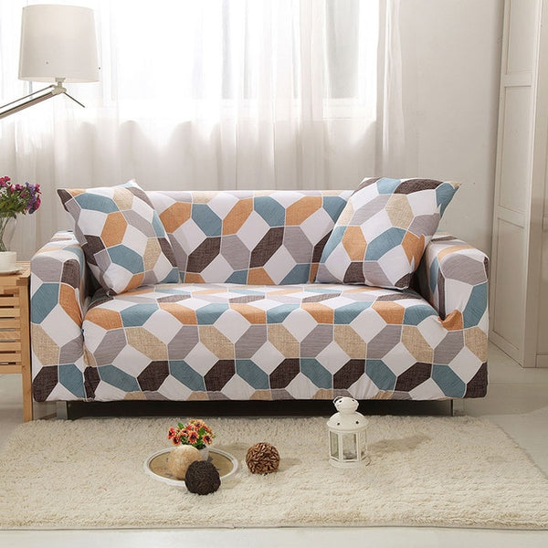 Libbie Geometric Sofa Cover - SofaPrint™