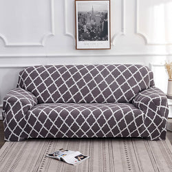 Alana Gray Pattern Sofa Cover - SofaPrint™