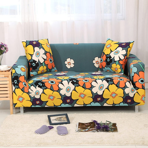 Flower World Sofa Cover - SofaPrint™