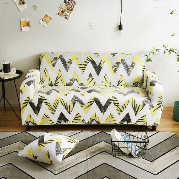 Harri Zig Zag Sofa Cover - SofaPrint™