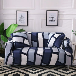 Lily-Ann Blue Sofa Cover - SofaPrint™