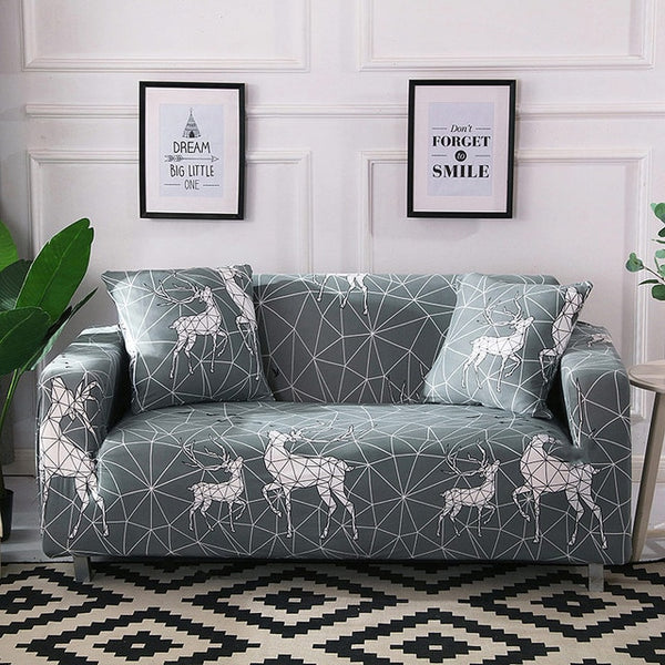 Sami Geometric Deer Sofa Cover - SofaPrint™