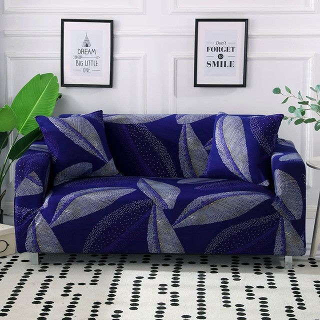 Haroon Purple Sofa Cover - SofaPrint™