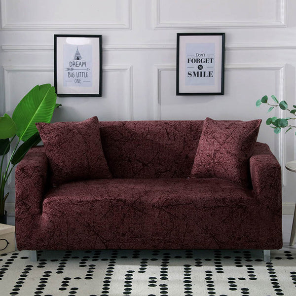 Ingrid Red Sofa Cover - SofaPrint™