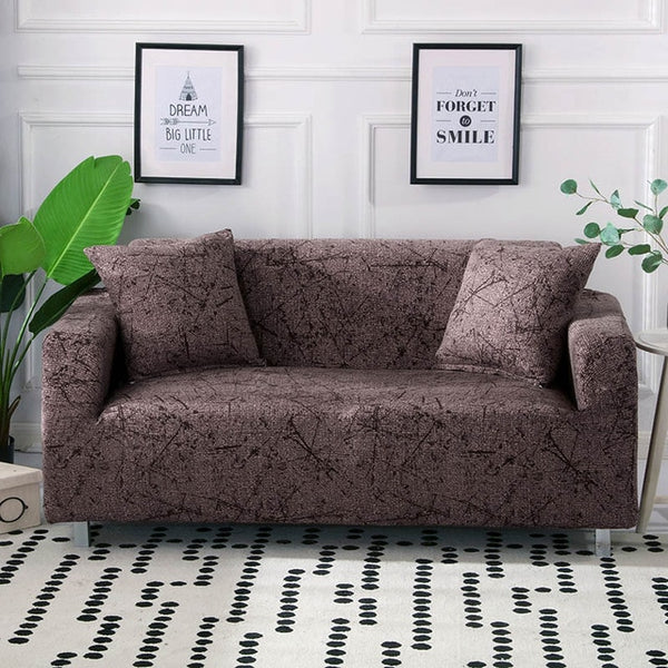 Ingrid Brown Sofa Cover - SofaPrint™