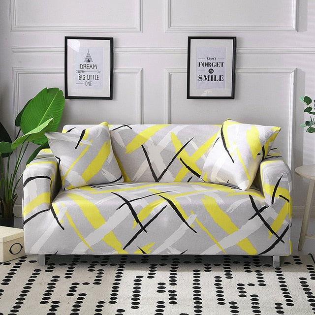 Winston Gray Sofa Cover - SofaPrint™