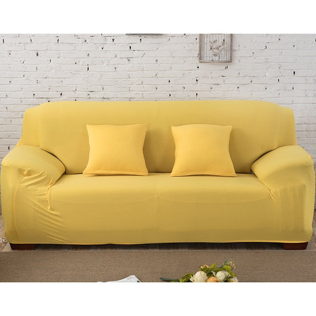 Solid Yellow Sofa Cover - SofaPrint™