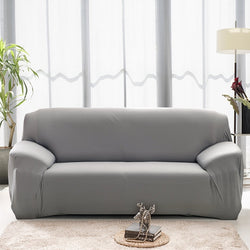 Solid Gray Sofa Cover