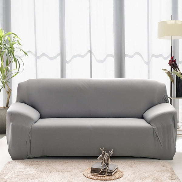 Solid Gray Sofa Cover - SofaPrint™