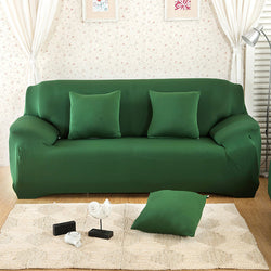 Solid Green Sofa Cover - SofaPrint™