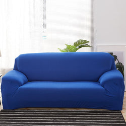 Solid Blue Sofa Cover