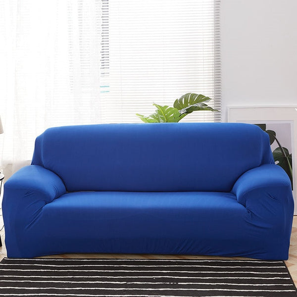 Solid Blue Sofa Cover - SofaPrint™