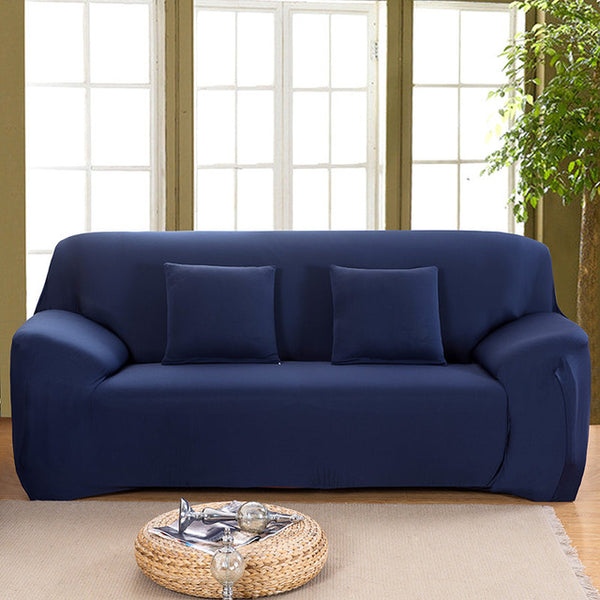 Solid Navy Sofa Cover - SofaPrint™