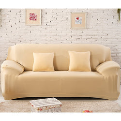 Solid Beige Sofa Cover - SofaPrint™