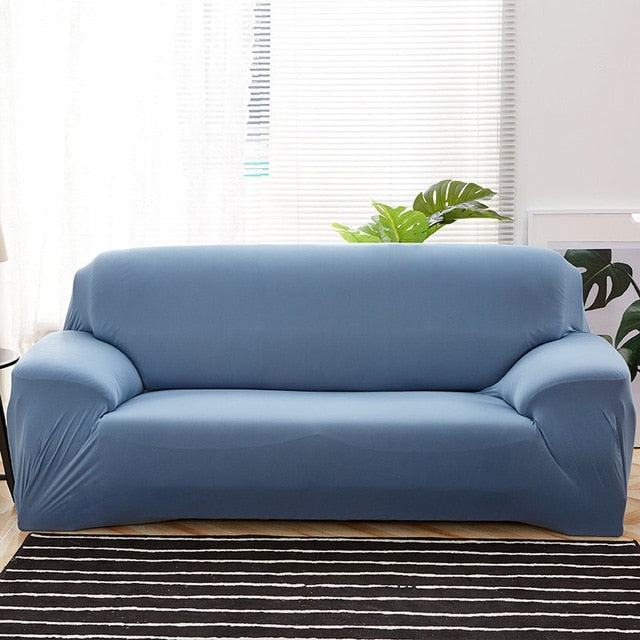 Solid Light Blue Sofa Cover - SofaPrint™