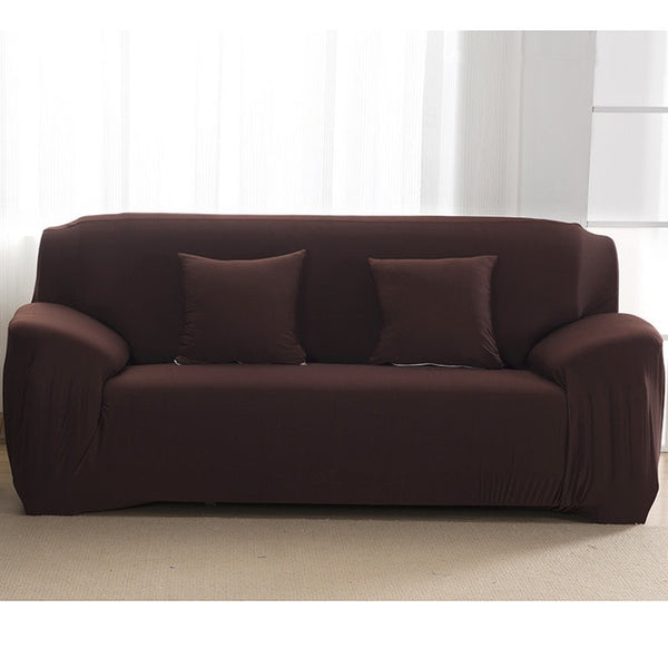 Solid Dark Brown Sofa Cover - SofaPrint™
