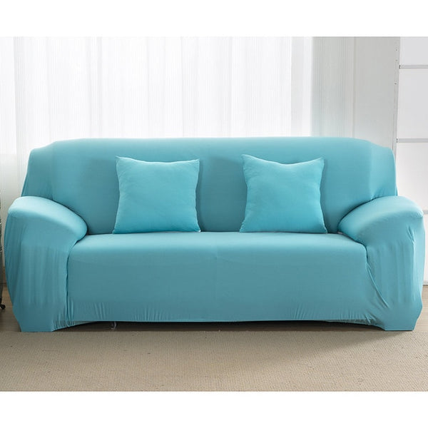 Solid Aqua Sofa Cover - SofaPrint™