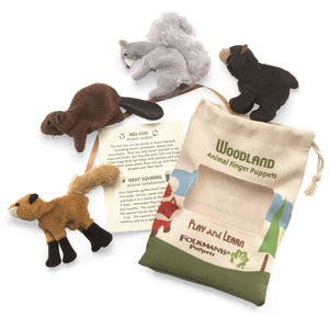 Woodland Set d'animaux Marionnette