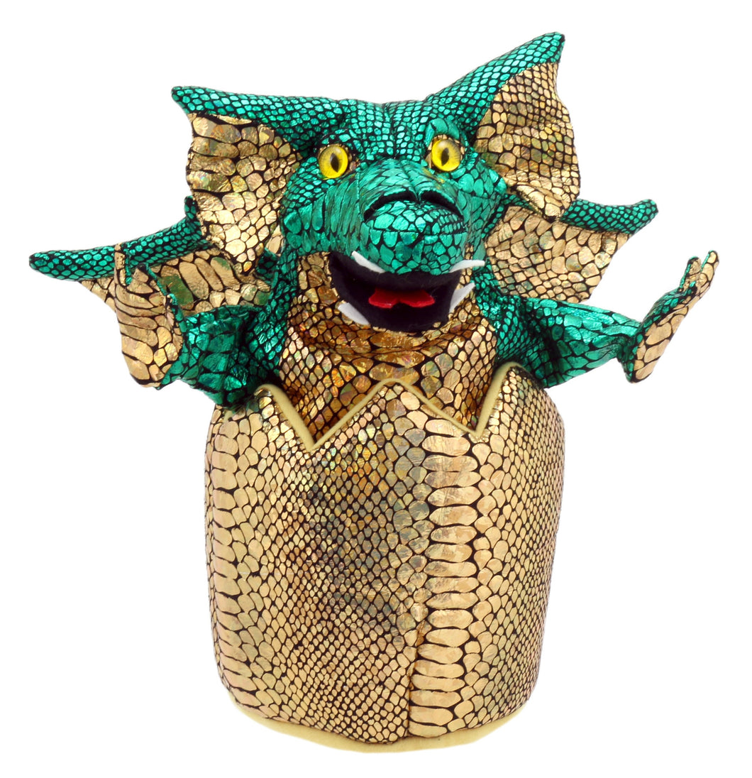 P45-PC004302-marionnette-Bébé-dragon-Vert-The-Puppet-Company-Baby-Dragons-in-Eggs