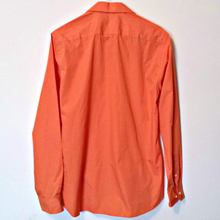 Load image into Gallery viewer, Orange Coral Shirt Slim Mens Button Ventuno 21 Work Formal Fitted Size Small