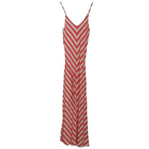 Striped Maxi Dress Cynthia Rowley Stripes Pink Coral Stripe Chevron Size XS