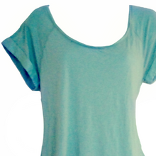 Load image into Gallery viewer, Mint Velvet Top Open Back Draped Green Pastel Blouse Size Medium