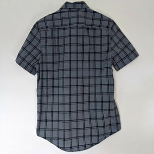 Tommy Hilfiger Shirt Check Men New Grey Button Down Plaid Mens Size Small