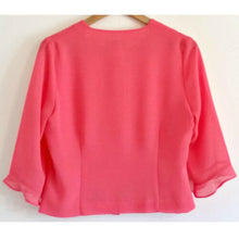 Load image into Gallery viewer, Vintage Pink Top 80s Lightweight Bell Sleeve Blouse Retro Buttons Size Small