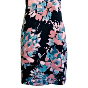 Blue Floral Dress Mini Shift Navy Pink Cynthia Rowley New Unworn Size Small