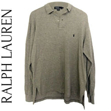 Load image into Gallery viewer, Ralph Lauren Shirt Polo Men Long Sleeves New Textured Grey Size Medium