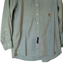 Load image into Gallery viewer, Tommy Hilfiger Shirt Button Down Men Buttons Grey Green Mens Size Large